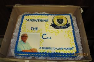 "Celebratory Cake underscores the title of the documentary ""Answering the Call"" –A Tribute to Clive Pantin"
