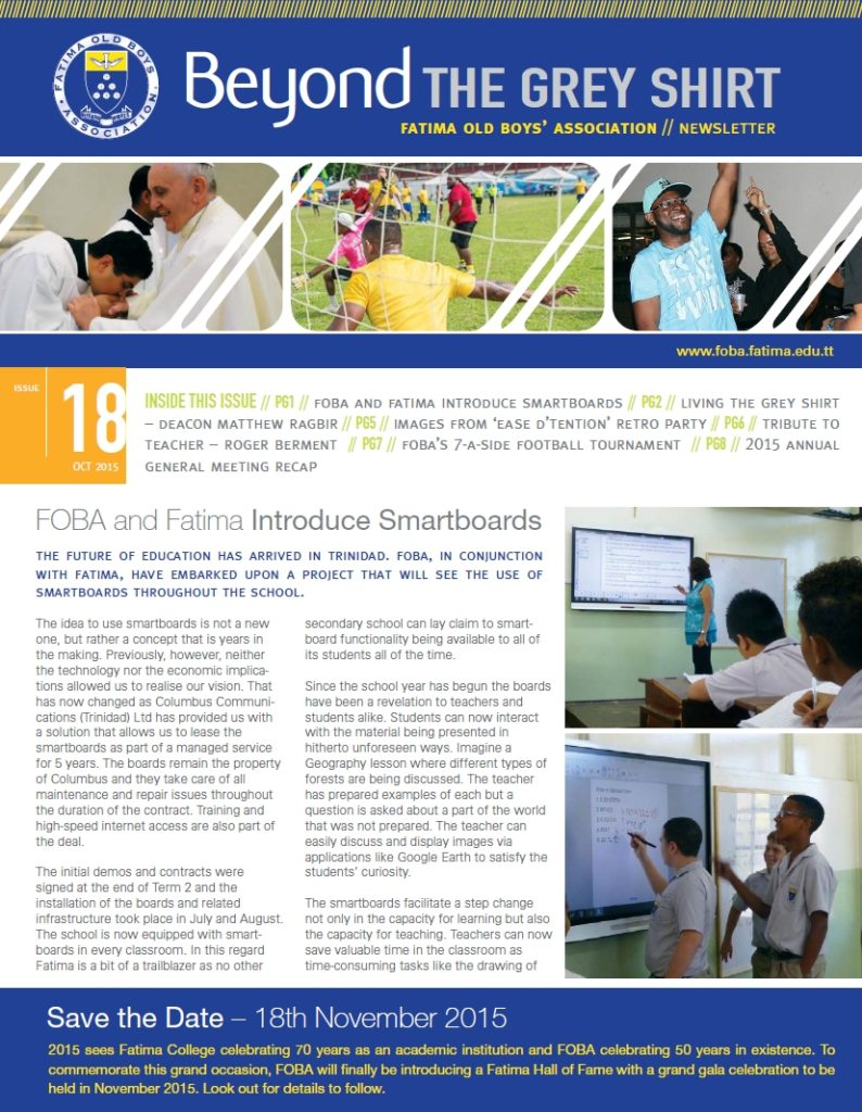 FOBA Newsletter #18_2015-October_Cover