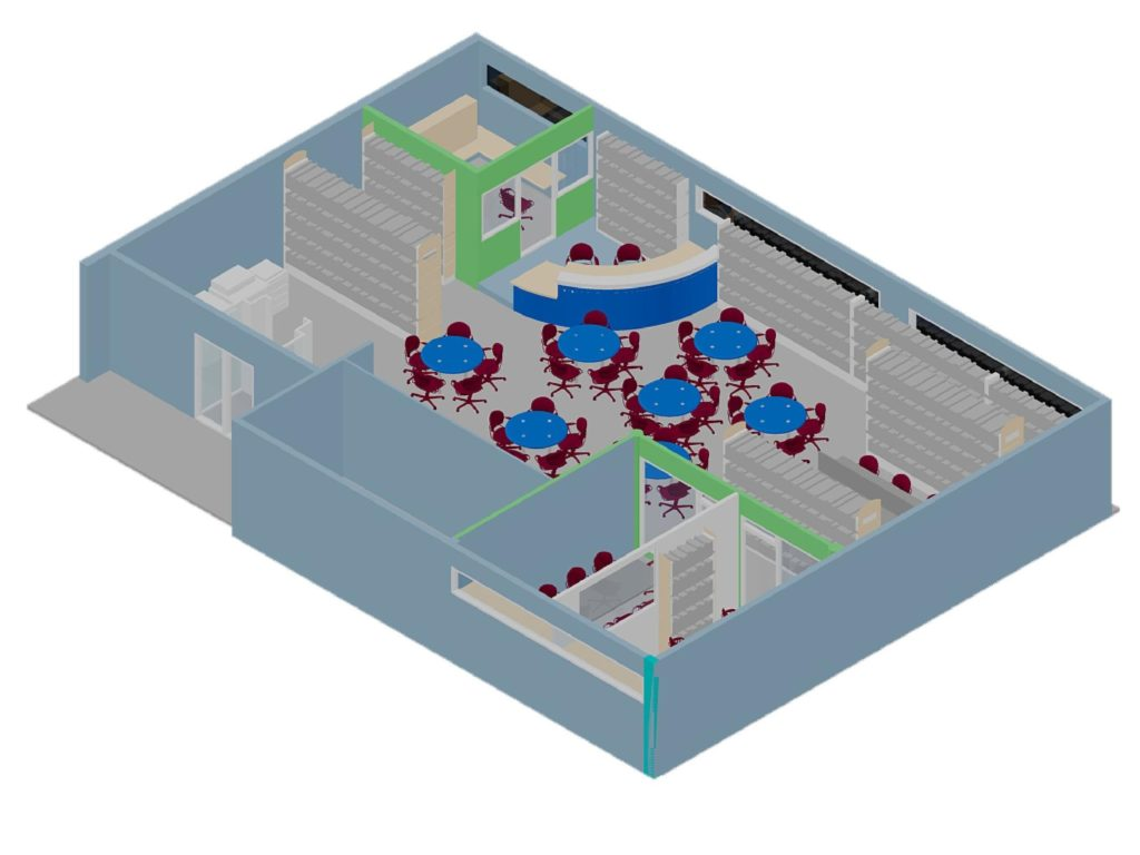 Isometric View of Library