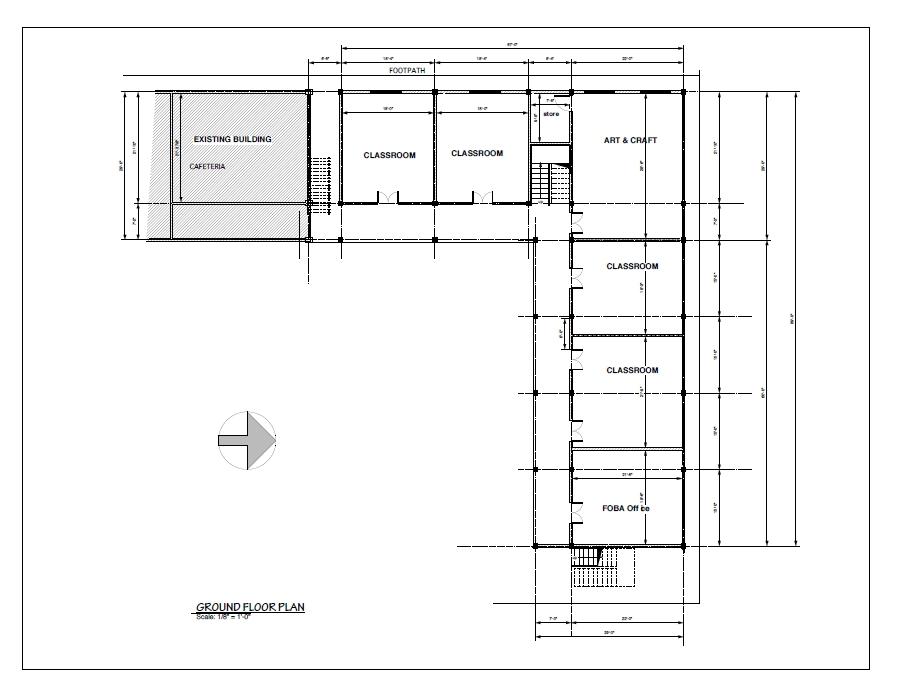 New Wing : Ground Floor Plan