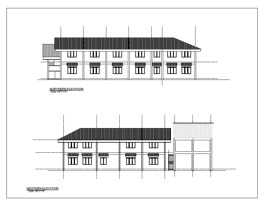 New Wing : Northern and Western Elevations