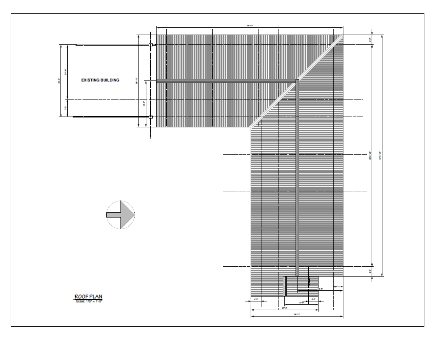 New Wing : Roof Plan
