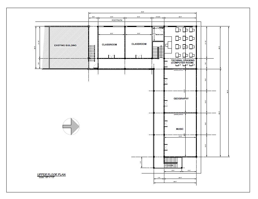 New Wing : Upper Floor Plan