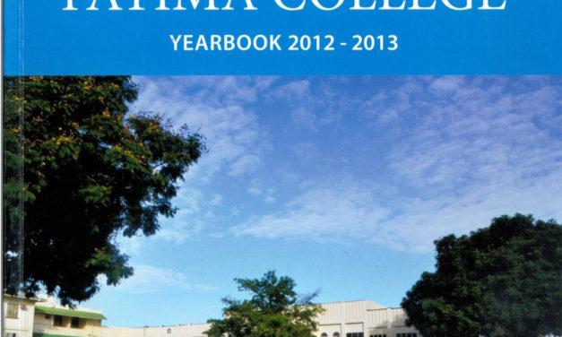 Fatima College School Annual 2012-2013