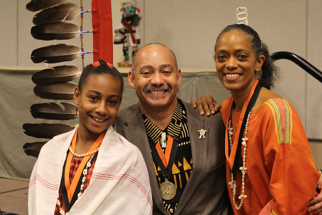 Dr Andre D Cropper with his daughter Iala and his wife Natalie