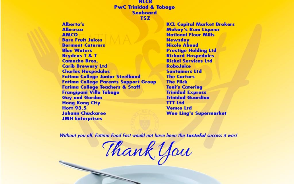 #FatimaFoodFest – THANK YOU