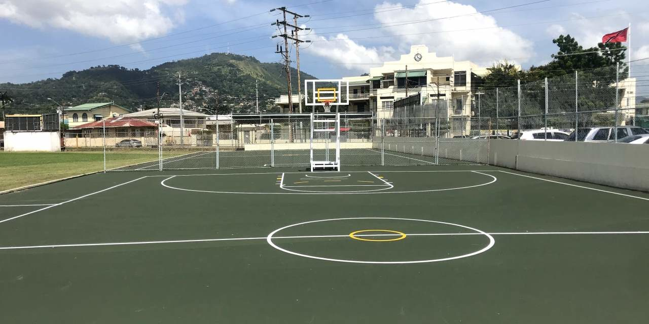 Basketball Court Upgraded
